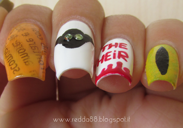 Harry Potter and the chamber of secrets nail art