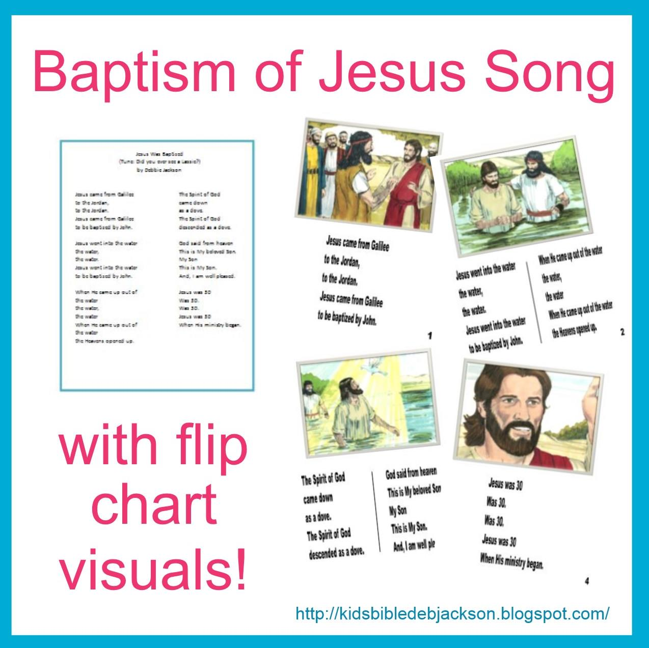 Baptism of Jesus Song with flip chart visuals