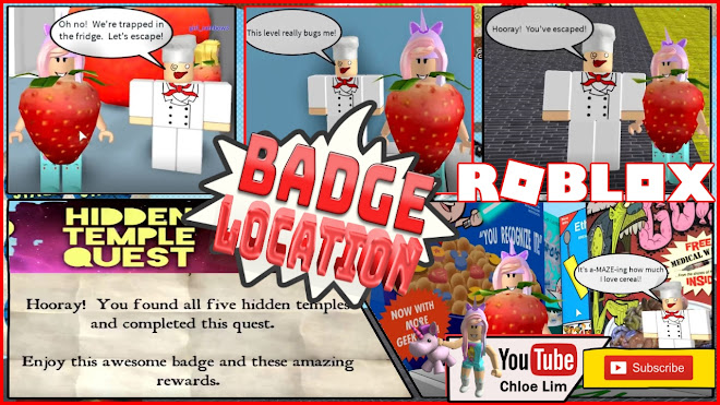 Roblox Escape The Amazing Kitchen Obby Gameplay! Location of all Hidden Temples BADGES!