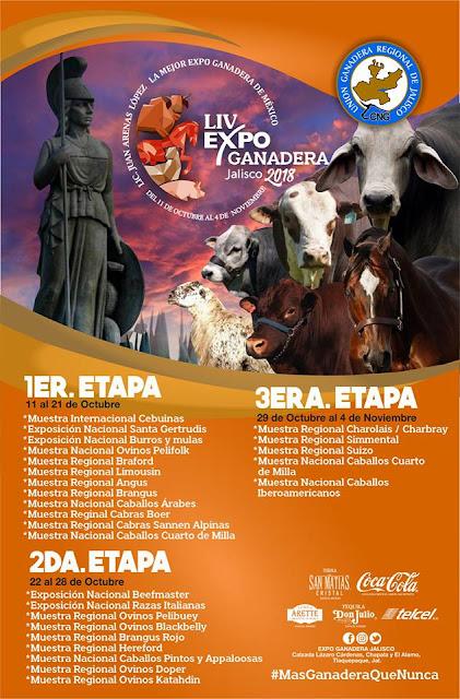 programa expo ganadera jalisco 2018