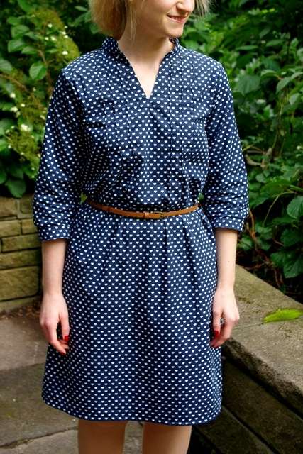 Finas Kleid Finas Ideen Kleid aus Webware mit Biesen