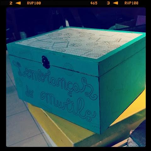 ScrapDecor na Caixa de vinho 2!