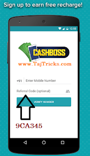 Cashboss Rs 30 Free Paytm Cash Recharge