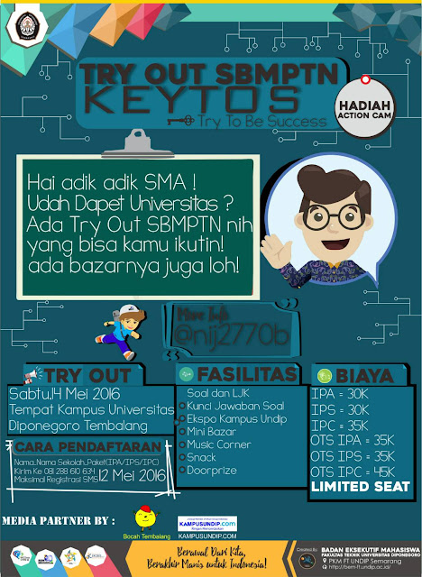 Try Out KEYTOS SBMPTN BEM FT Undip
