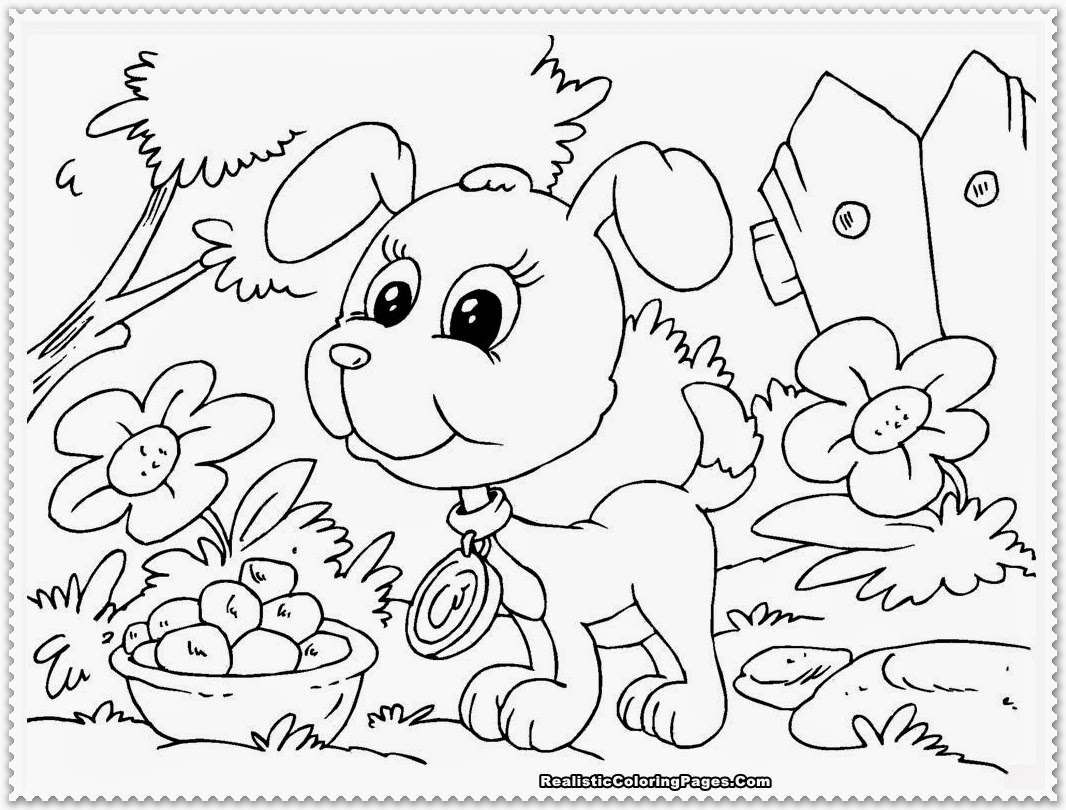 Coloring Puppy Pages - Eskayalitim