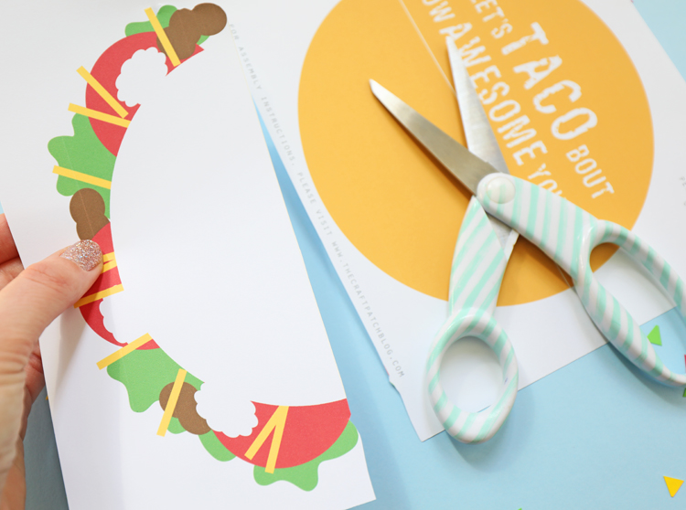 taco gift card holder tutorial