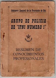 El libro que estudiabamos los policías de Ifni