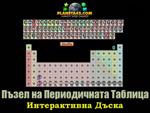 Пъзел на периодичната таблица