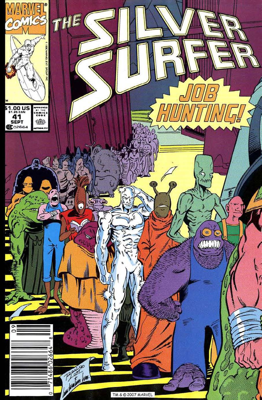 Read online Silver Surfer (1987) comic -  Issue #41 - 1