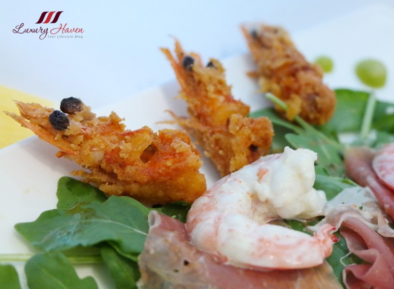 purelyfresh wild rocket salad crispy prawns recipe