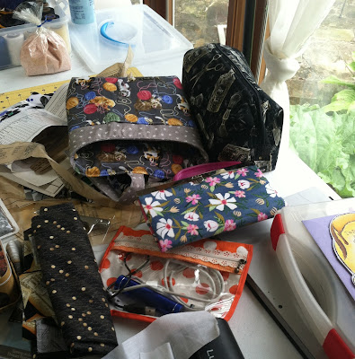 bag projects, homemade bags, clutch purse, pouches