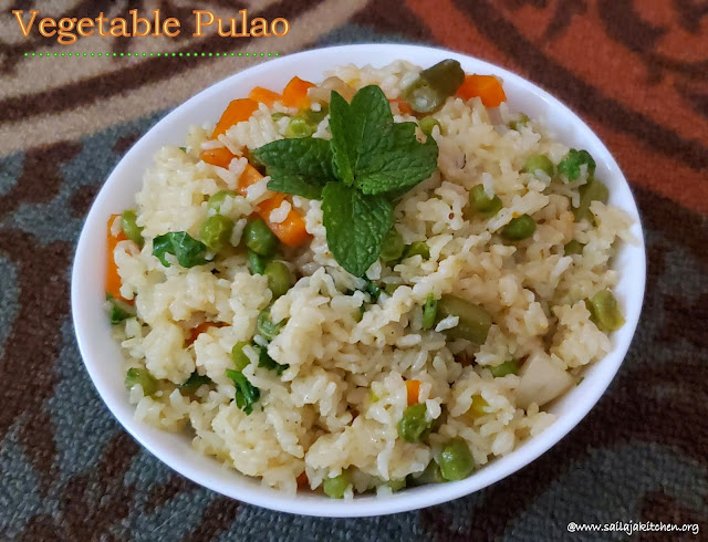 images of Vegetable Pulao / Easy Vegetable Pulao / Pulao Recipe / Instant Pot Vegetable Pulao