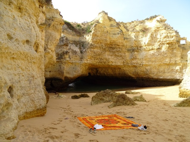 playa cueva Algarve, portugal, playa secreta