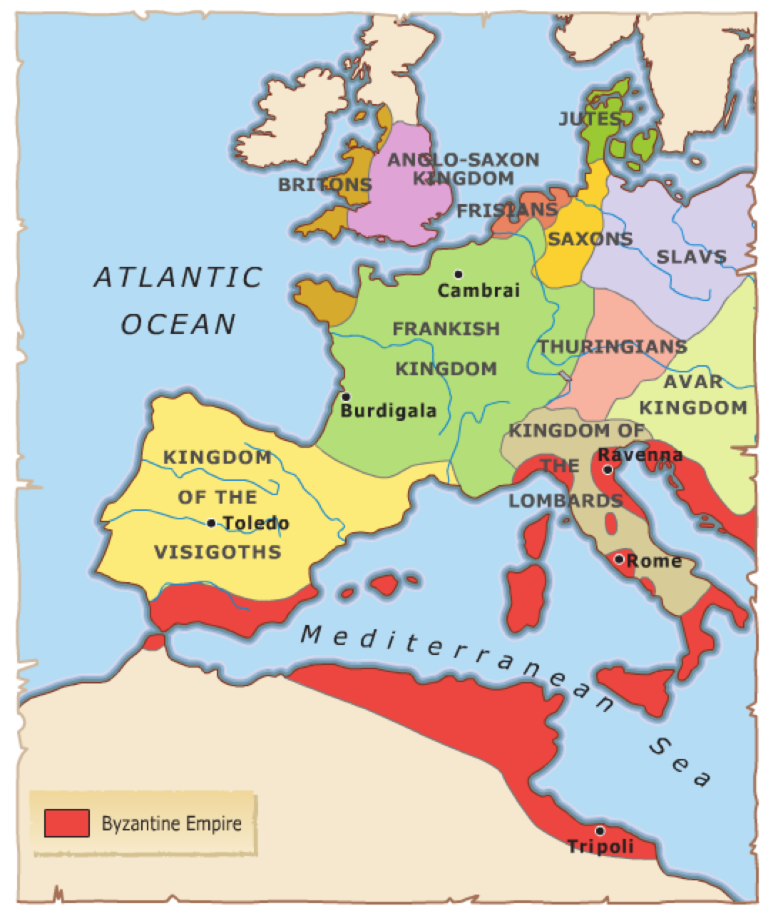 ESO Session The Middle Ages Begin Mr Bells World History - Germany map middle ages