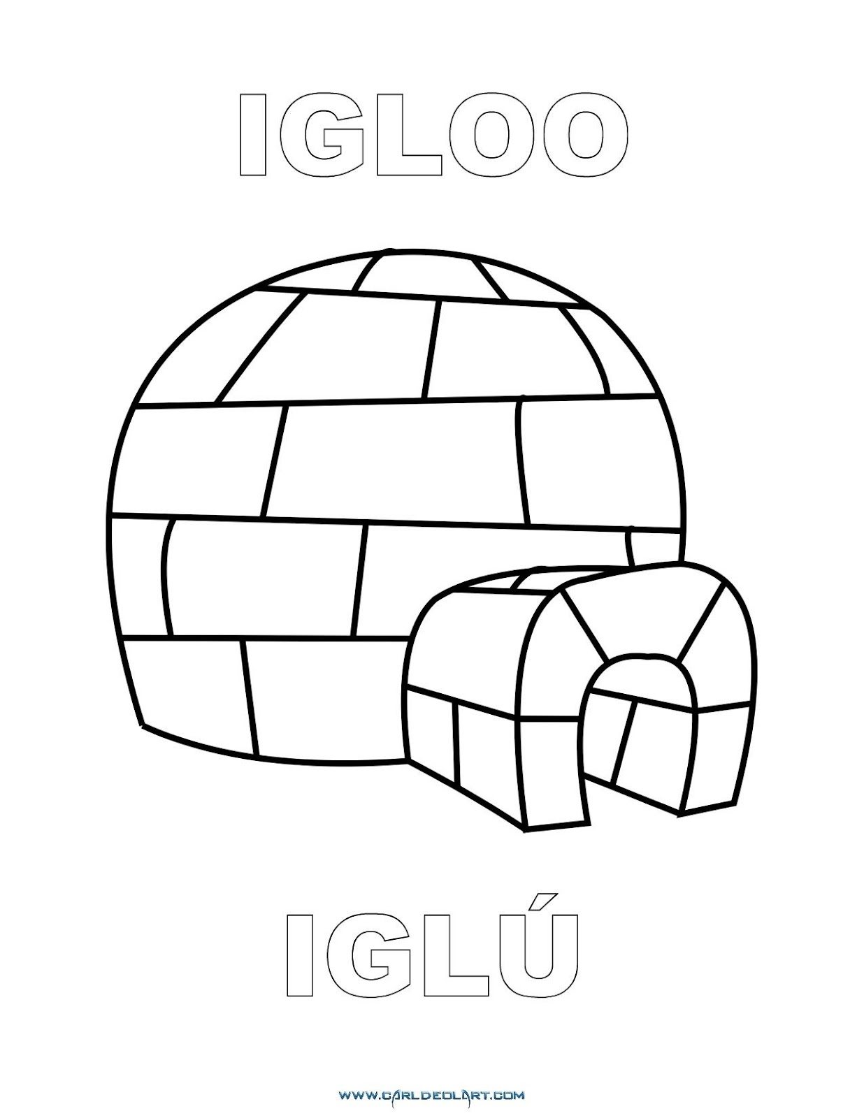 Dibujos Inglés Español Con I Iglú Igloo