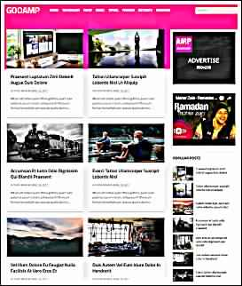 goo amp best blogger template seo friendly