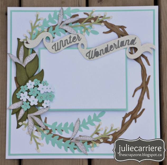 Winter Wonderland Layout Wreath