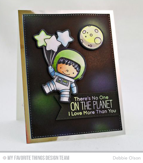 Handmade card from Debbie Olson featuring products from My Favorite Things #mftstam,ps