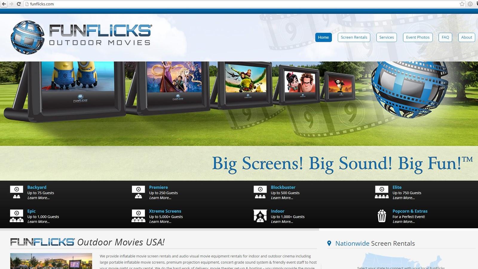 The Fun Of Outdoor Movies New Funflicks Outdoor Movie Website