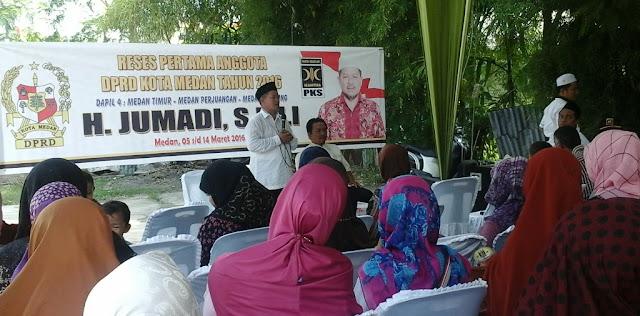 Dalam Reses Jumadi, Warga Berharap Pemko Medan Memperhatikan Guru-guru Khusunya MDTA