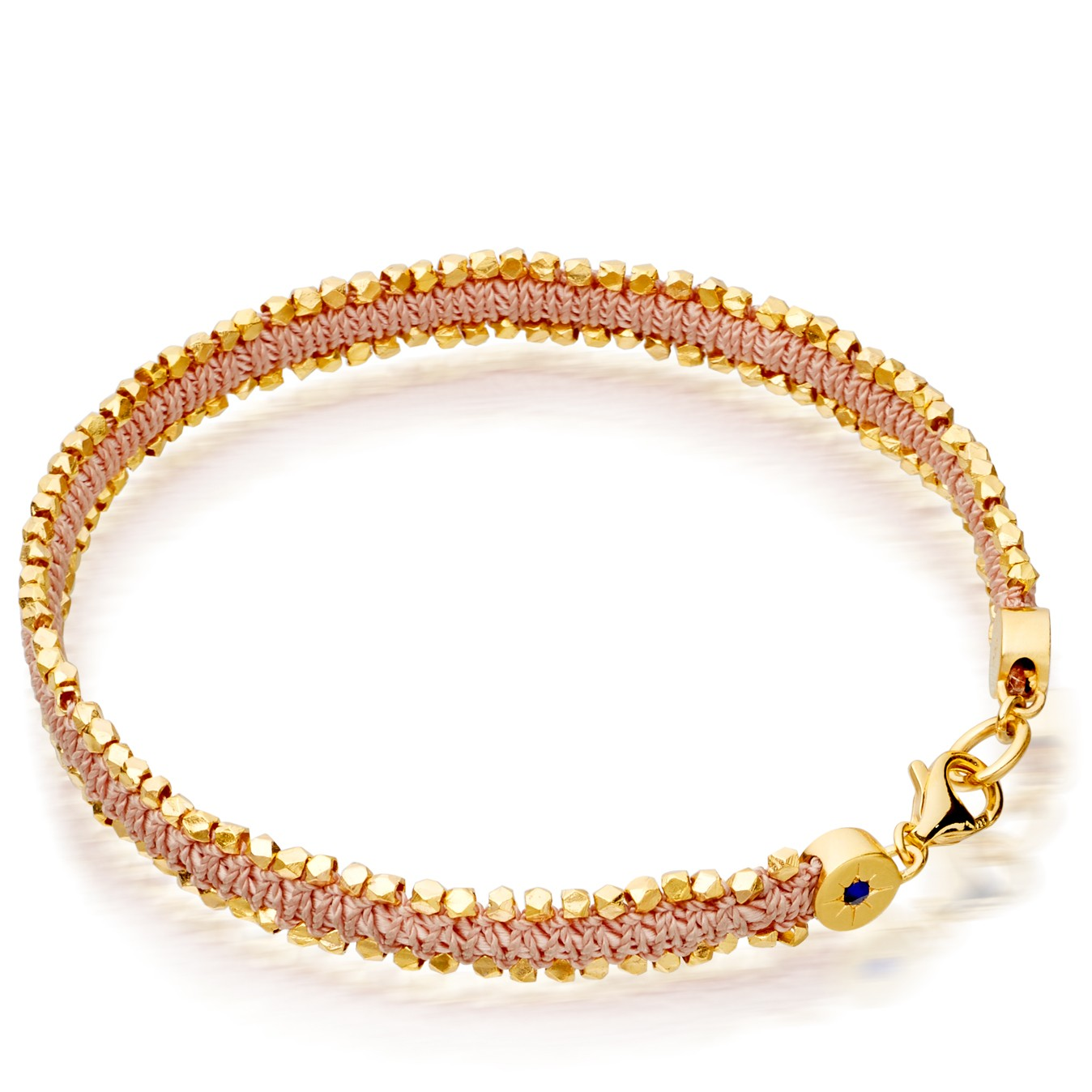 Astley Clarke Peach Blush Nugget Biography Bracelet - British luxury jewellery - UK style blog