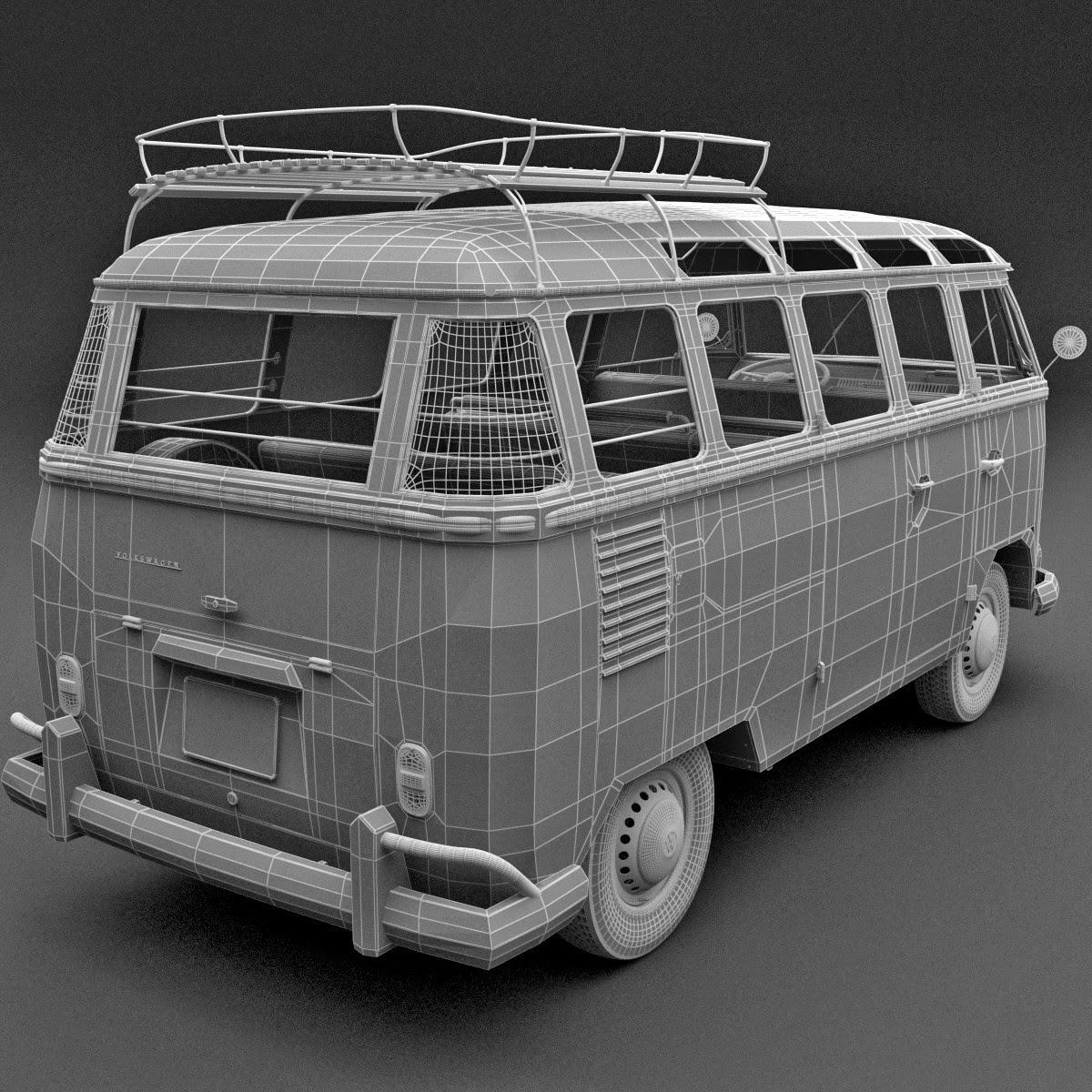 3d Volkswagen Bulli T1 (type2) | 3d models for professionals
