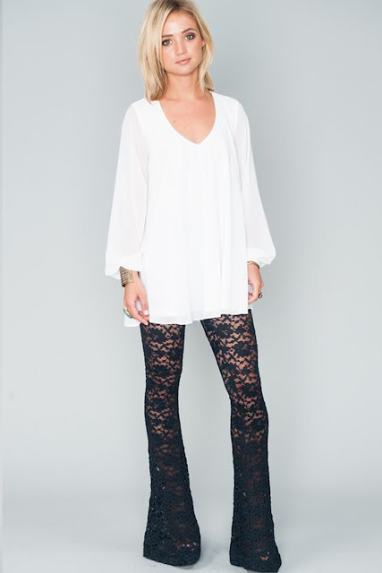 shop lace bells from Show Me Your Mumu at Fitzroy Boutique