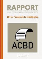 Allez lire le rapport ACBD 2016 : année de la stabilisation