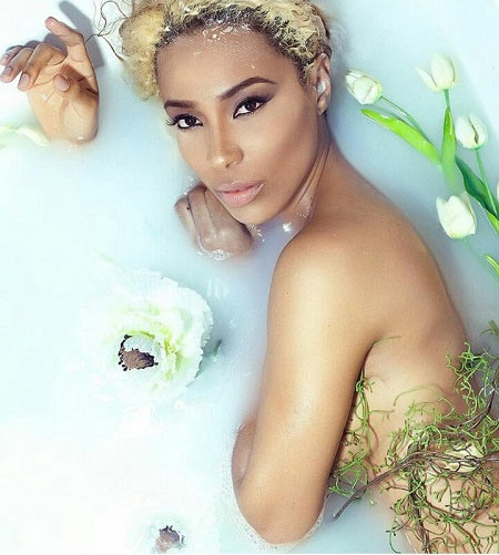 Ghana actress Nikki Samonas in bathtub photos