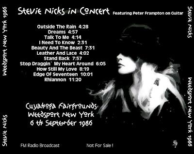 T U B E Stevie Nicks 1986 09 06 Weedsport Ny Fm