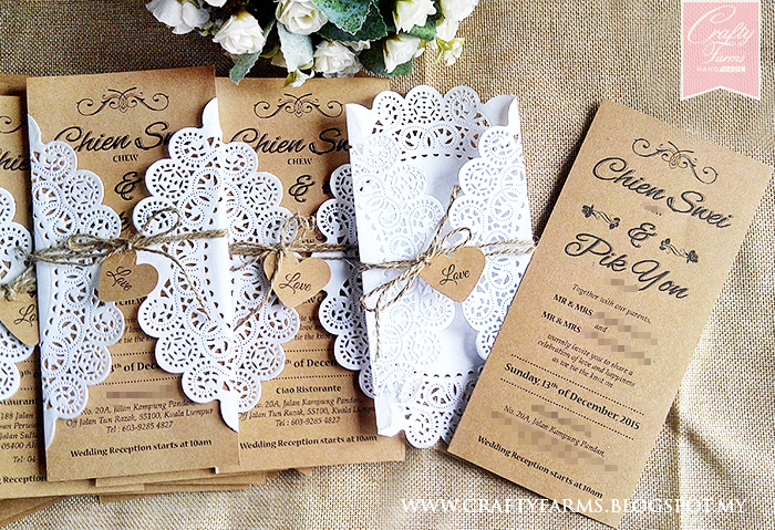 Handmade Rustic Wedding Invitations: Crafty Farms Handmade : Doily