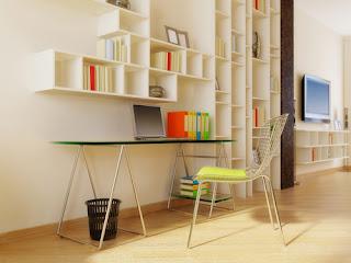 Cách bố trí không gian văn phòng làm việc tại nhà