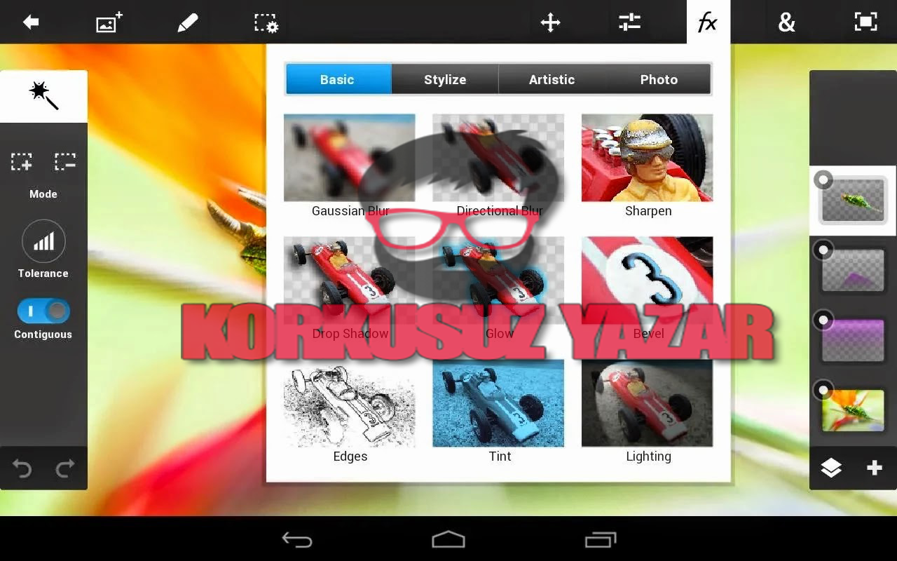 PS Touch ve Photoshop Express APK