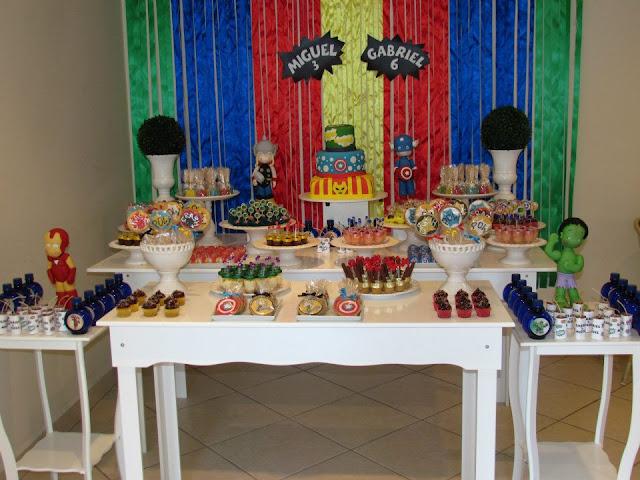 Decoração festa infantil Vingadores provençal