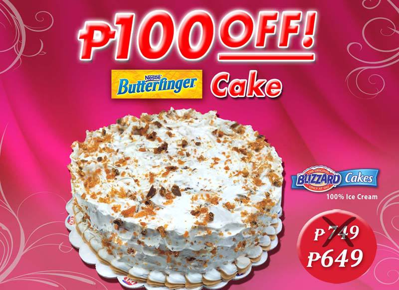 DQ Butterfinger Cake P100 OFF