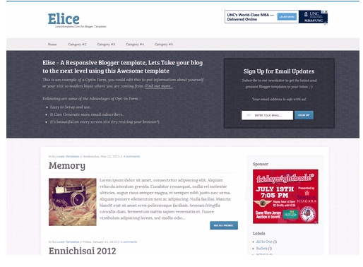 5. Elice - A Responsive Blogger Template