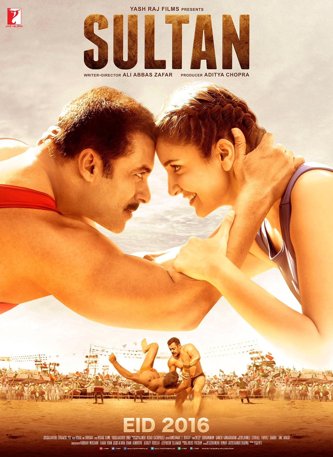 Salman Khan, Anushka Sharma film Sultan is ninth highest grossing Bollywood film in overseas markets MT wiki, worldwide box office collection a lifetime distributor share of INR 302 Crore crore, it budget 70 Crores