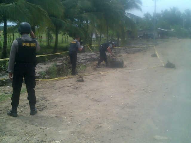Brimob di Aceh Utara Amankan Bom Rakitan