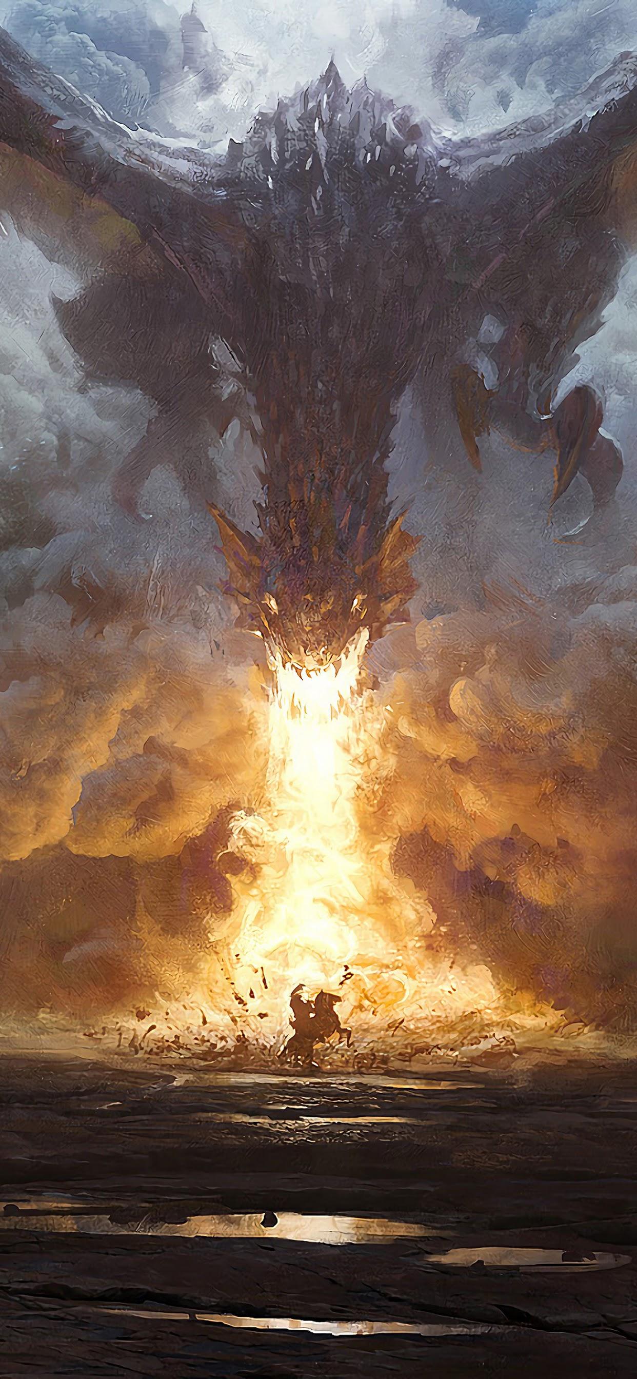 Dragon Fire Breath Fantasy Art 4k Wallpaper 78