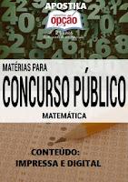 apostila matematica conteúdo especifico impressa e digital para concurso público 2016