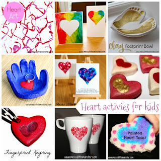 Easy Valentines day craft ideas for kids. A list of cute heart crafts suitable for babies, toddlers, preschoolers and older children.