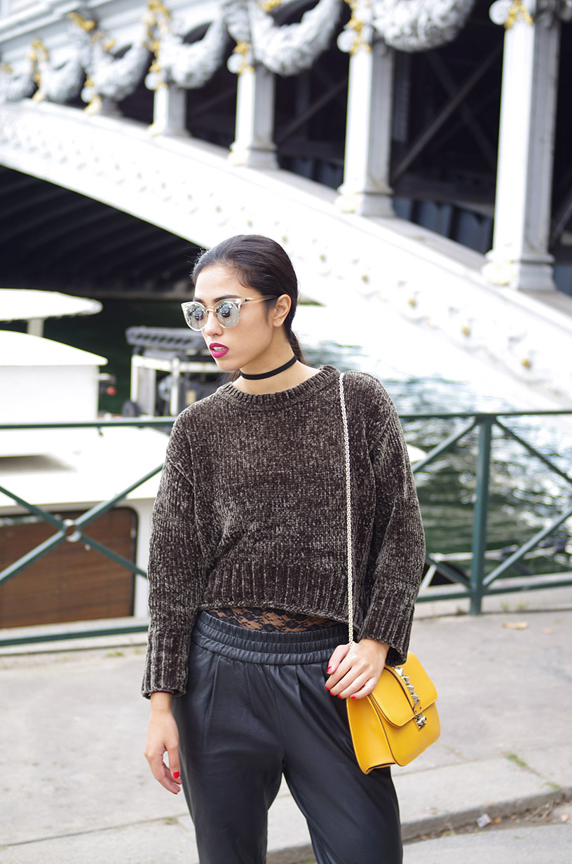 Elizabeth l Velvet lace leather trend outfit l Zara Mango Valentino l THEDEETSONE l http://thedeetsone.blogspot.fr