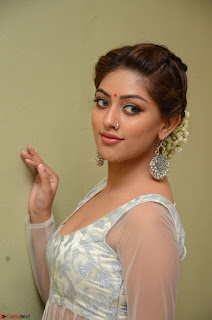 Anu Emmanuel in a Transparent White Choli Cream Ghagra Stunning Pics 074.JPG