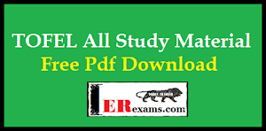 Update TOEFL All Study Material Free Pdf Download
