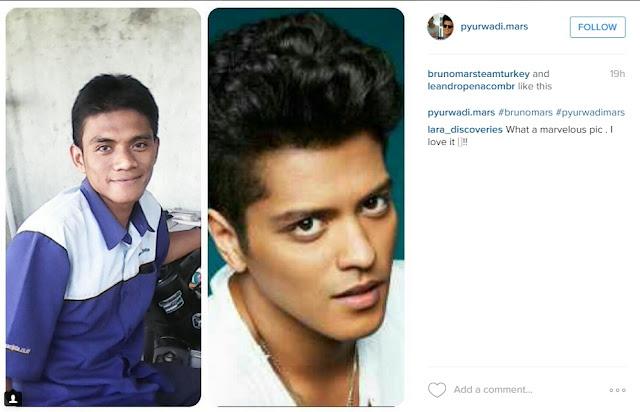 'Kembaran' Bruno Mars dari Indonesia, Asli Mirip Banget