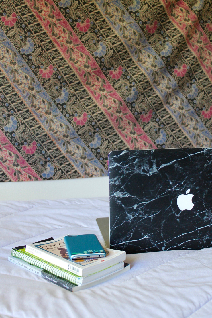 marble laptop case sticker and cactus printed phone case