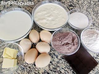 Tort krem a la krem - toate ingredientele necesare pentru a prepara reteta