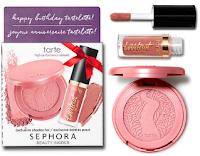 SEPHORA birth day set FREE TARTE blush PAAARTY lipgloss BIRTHDAY SUIT matte lip paint lipstick nude boring review