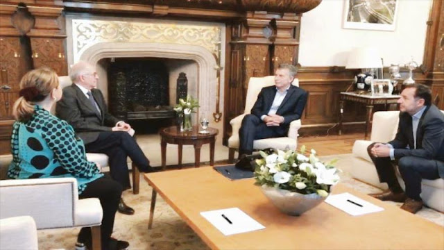 Opositor venezolano pide a Macri sancionar a violadores de DDHH
