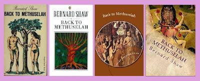 portadas de Back to Methuselah, que contiene La cosa sucede de George Bernard Shaw